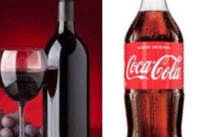 ¿Qué bebida tiene más calorías: el vino tinto o la coca cola?